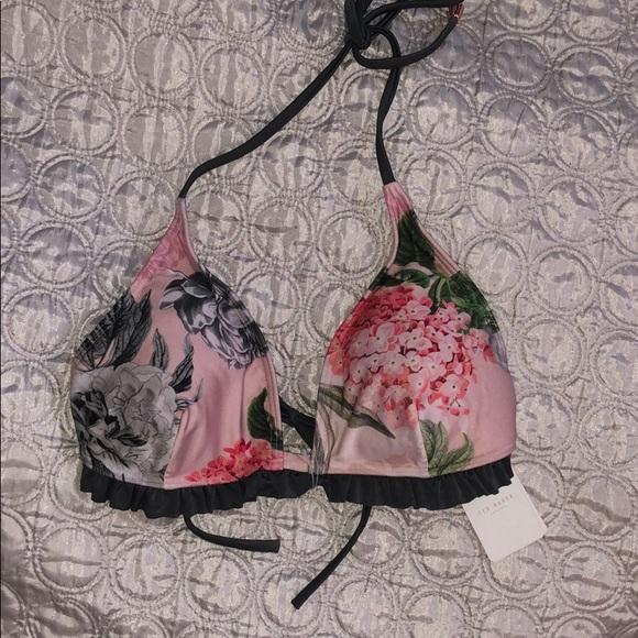 517e8732043 Ted Baker palace gardens ruffle bikini top